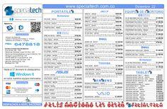 lista-depreciosspecialtechdiciembre222012 by Specialtech Octavio Gonzalez via Slideshare