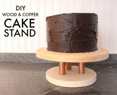 "That's My Letter: ""C"" is for Copper Cake Stand, diy copper and wood cake stand"