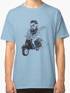 t-shirt hipster man moto/scooter print T-shirt Coton Hipster Man, T Shirt, Mens Tops, Fashion, Supreme T Shirt, Moda, Tee Shirt, Fashion Styles, Fashion Illustrations