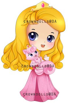 AURORA-BEAUTY chibi by crowndolls on deviantART