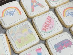 "🎨 🖌 Beautiful Cookies based on the drawings in the book ""Covid Capers"" by Janet Clarke & Friends. #covidcapers #localauthors #makeawishcakes"
