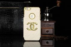 Chanel iphone 6 Round Hold Hard Back Cases Covers White Free Shipping - Deluxeiphone6case.com