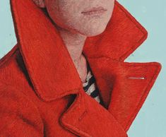 Hyperreal Hand-Embroidered Portraits by Cayce Zavaglia - Details R65, Portrait Art, Portraits, Embroidery Art, Embroidery Designs, My Father, Dressmaking, Winter Coat, Jackson
