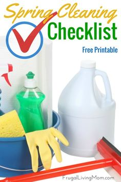 Who's ready to do some Spring Cleaning?? If it were up to me.. I would rather someone ELSE might do mine.  But that's not going to happen, so how about a Spring Cleaning Checklist to help out? Better than nothin' ;)