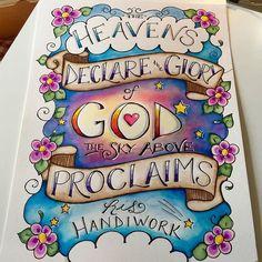 Jennifer @our_grateful_hearts Psalm 19:1 ~ &quo...Instagram photo | Websta (Webstagram)