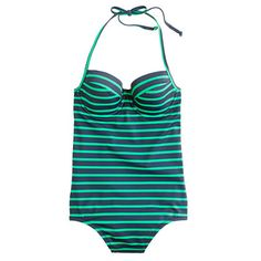 Nautical with an edge: Deck-stripe Underwire Tank from J. Crew