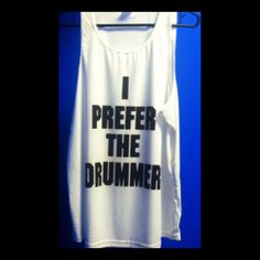 I Prefer the Drummer Tank by SweetTeesNow on Etsy, $16.99