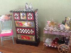 Mackenzie Childs inspired dollhouse furniture