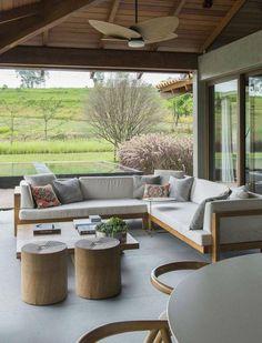84 stylishly enjoyable backyard furniture ideas you'll adore 21 House Design, Home Interior Design, Backyard Furniture, Outdoor Furniture Sets, Home Deco, Home, Exterior Design, New Homes, Outdoor Living