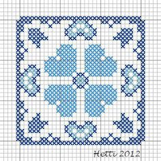 Creative Workshops from Hetti: SAL Delfts Blauwe Tegels,Deel 2 - SAL Delft Blue Tiles, Part 2. (Part 2 of the SAL Delft Blue tiles. In this Valentine month, I opted for hearts).