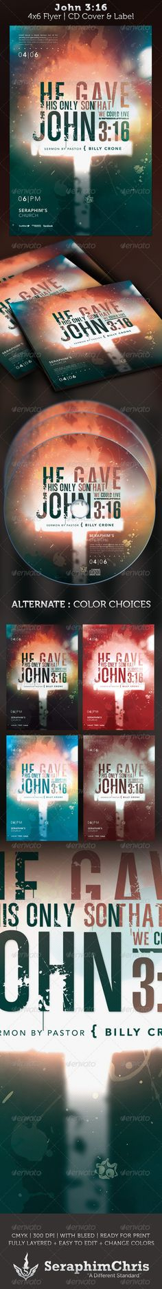 Buy John Typography Flyer and CD Template by SeraphimChris on GraphicRiver. John Church Flyer and CD Artwork Template This file designed for church events that need a modern look. Print Templates, Psd Templates, Cd Artwork, Cd Cover Design, Cd Labels, Concert Flyer, Christian Apparel, Church Events, Charity Organizations