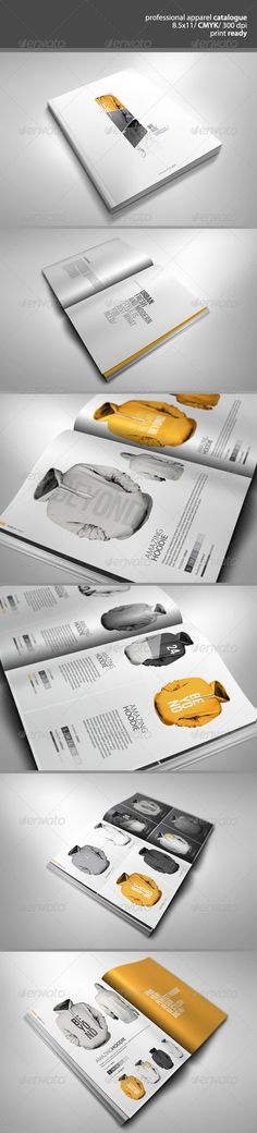 Buy Professional Apparel Catalogue by on GraphicRiver. Professional Apparel/Clothing Catalogue Features inches 12 pages 300 dpi CMYK Bleed Print ready Files Included. Design Brochure, Stationery Design, Brochure Template, Page Design, Layout Design, Print Design, Graphic Design, Editorial Layout, Editorial Design