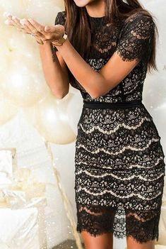 Laced formal dress | Formal wear look