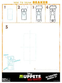 How To Draw The Muppets: Muppets Most Wanted Free Printables #MuppetsMostWanted