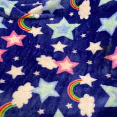 Rainbow Stars Cuddle Fleece Fabric Sew Over It Patterns, New Look Patterns, Simplicity Patterns, Sewing Patterns, Satin Fabric, Fleece Fabric, Christmas Fabric Crafts, Tilly And The Buttons, Rainbow Star