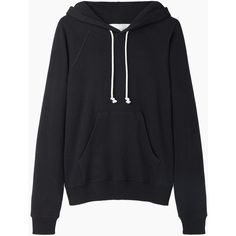 Black Hooded Long Sleeve Crop Sweatshirt - m.shein.com cute styles ...