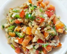 Happy Easter folks. A Caribbean staple, saltfish buljol is a classic with vibrant colours and equally bold flavours. Recipe 2 cups boneless saltfish (cod) 5 cups water 3 tablespoons lemon juice 1/4…