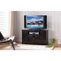 K and B Furniture Dark Cherry Wood TV Stand