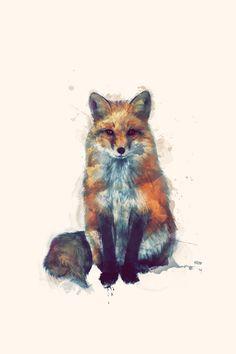 Fox Art Print by Amy Hamilton | Society6