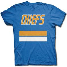 SLAPSHOT CHARLESTOWN CHIEFS JERSEY T SHIRT - Old Time Hockey Love