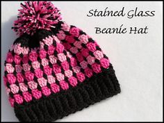 FiberGasam: Stained Glass Beanie Hat ~FREE PATTERN~