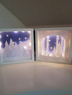 Christmas Crafts To Make, Christmas Paper, Christmas Projects, All Things Christmas, Christmas Home, Handmade Christmas, Holiday Crafts, Christmas Decorations, Christmas Shadow Boxes