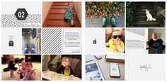 Sample Project Life pages created with the Project Life App!