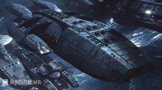 Battlestar Galactica: Blood and Chrome. Fully armed Galactica during First Cylon War Kampfstern Galactica, Battlestar Galactica, Babylon 5, Movie Info, Sci Fi Ships, Spaceship Design, Star Trek Ships, Sci Fi Fantasy, Looks Cool