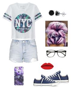 """""""Untitled #213"""" by j7nelleezsb ❤ liked on Polyvore featuring Converse, Topshop, Aéropostale and BERRICLE"""