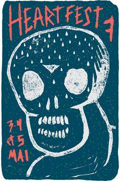 HEARTFEST 7 3 - 4 - 5 mai 2013 @ ARG Gatineau, Canada #poster #design #show #music #gigposter #heartfest #hardcore
