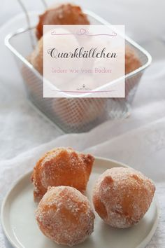 Delicious quark balls - made light and fast - Süsse Dinge - Fast Dinner Recipes, Breakfast Recipes, Dessert Recipes, Quick Recipes, How To Make Hamburgers, Chocolates, Beautiful Soup, Sweet Bakery, Mini Donuts