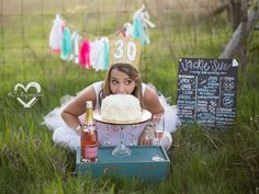 PHOTO: Photographer Amiee Berrys adult cake smash photo sessions are a fun twist on a trend thats usually reserved for kids.