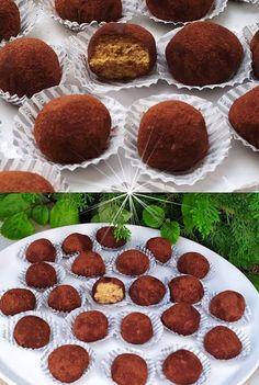 Greek Sweets, Greek Desserts, Greek Recipes, My Recipes, Cooking Recipes, Chocolate Sweets, Chocolate Truffles, Low Calorie Cake, Sweets Recipes