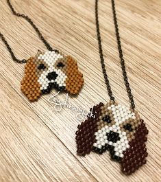 Cute Dancing Panda Necklace, Seed Bead Animal Jewelry, Silver Plated Chain on Etsy Seed Bead Patterns, Peyote Patterns, Beading Patterns, Beading Projects, Beading Tutorials, Motifs Perler, Quilled Creations, Beaded Crafts, Peyote Beading