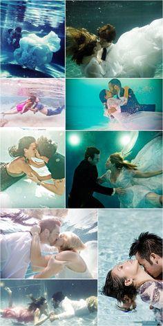 24 Underwater engagement photos - Romantic