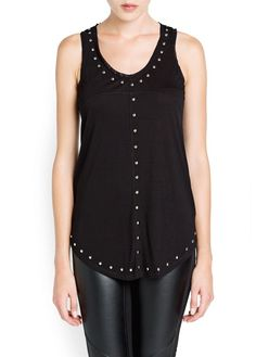 MANGO - CLOTHING - NEW COLLECTION - Tops - Studded strap top