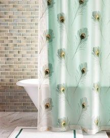 Favorite Shower Curtain For The Peacock Bathroom