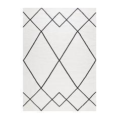 Le+milieu+Matto+200x300cm,+Valkoinen/Musta,+Decotique