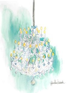 Image result for chandelier watercolor
