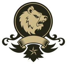 Símbolo de Urso vector art illustration