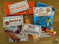 Candy and Snack Motivational Test Phrases Testing Treats For Students, Student Treats, School Treats, Student Gifts, Exam Motivation, Student Motivation, Candy Poems, Staar Test, Test Day