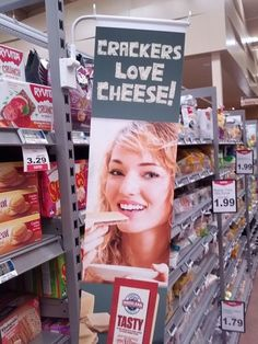 White Crackers Love Cheese - People of Walmart Sign Fail - Funny Pictures at Walmart