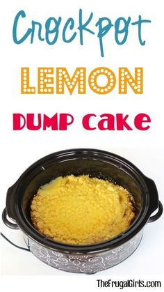 Just dump it in… and walk away! Now that's my kind of dessert! Your tastebuds will squeal with excitement for this easy and delicious Crockpot Lemon Dump Cake Recipe! What You'll Need: 1 box Betty C Slow Cooker Desserts, Crockpot Dessert Recipes, Crock Pot Desserts, Crock Pot Cooking, Slow Cooker Recipes, Gourmet Recipes, Cooking Recipes, Crockpot Meals, Crockpot Dishes