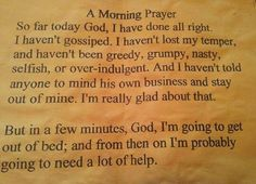 Morning prayer.