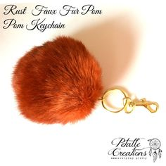 ❤ you asked for it and we made it! faux fur is a vegan-friendly way of rocking a pom pom keychain, with no guilt  our new FAUX FUR pom pom key
