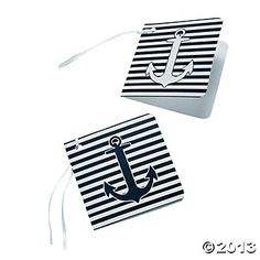Nautical Wedding Favor Tags--for writing notes to the happy couple!  oriental trading co