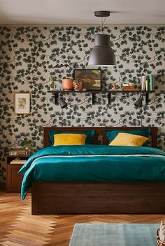 Wallpaper Pine green - Sandberg Wallpaper #sandbergwallpaper #pine #wallpaperpine #wallpaper #wallcovering #tapet #tapetti #papelpintado #papierpeint #behang #tapete #bedroom #bedroomideas #bedroominspo #bedroomdecor #interiordesign #interiorinspo #interiordecor Hemnes Day Bed, Day Bed Frame, Cosy Sofa, Inspirational Wallpapers, Sit Back And Relax, Create Space, Good Night Sleep, Modern, Bedrooms