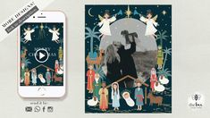 Nativity, Christmas animated Card Nativity, Bee, Merry, Animation, Invitations, Make It Yourself, Christmas, Cards, Yule