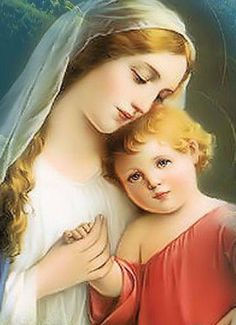 Blessed Mother and Child Jesus Blessed Mother Mary, Blessed Virgin Mary, Jesus Christ Images, Images Of Mary, Christian Images, Queen Of Heaven, Mama Mary, Religious Pictures, Mary And Jesus