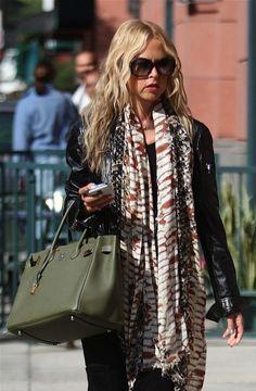 Rachel Zoe's New Olive green Hermes Birkin | Celebrity Handbag Styles